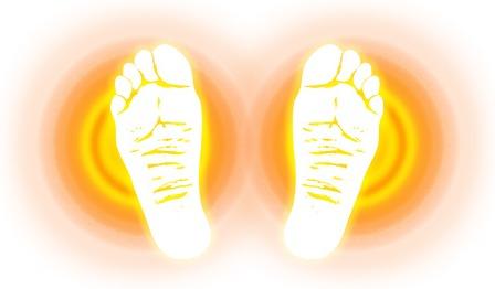 足の裏がじんわり暖かい画像