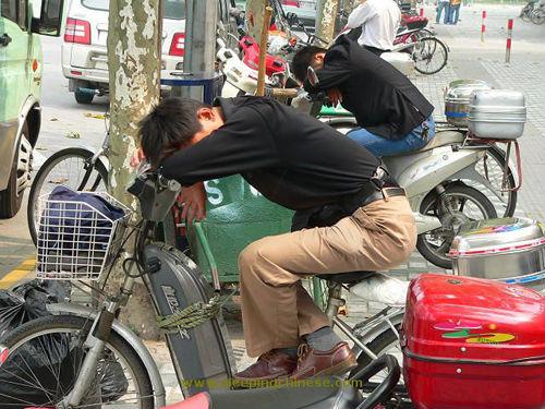 バイクで眠る