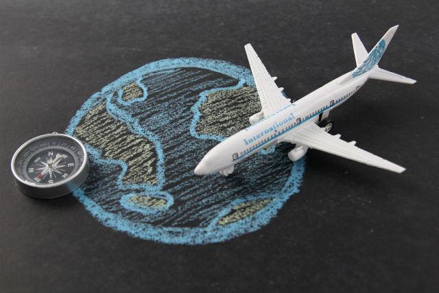 旅客機とコンパス