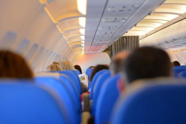 旅客機内の写真