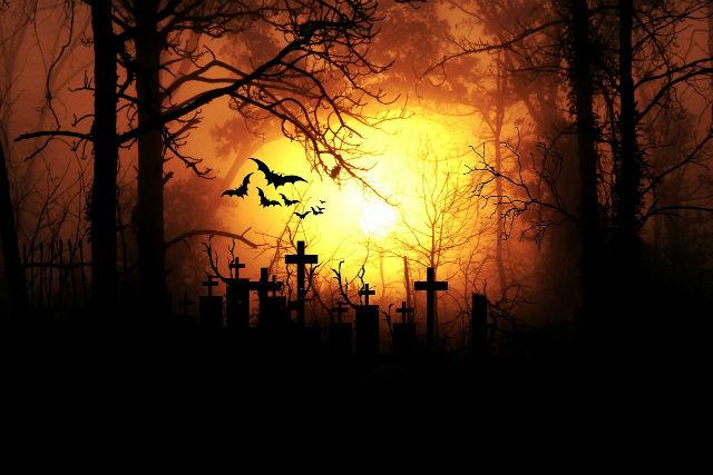墓場のイラスト