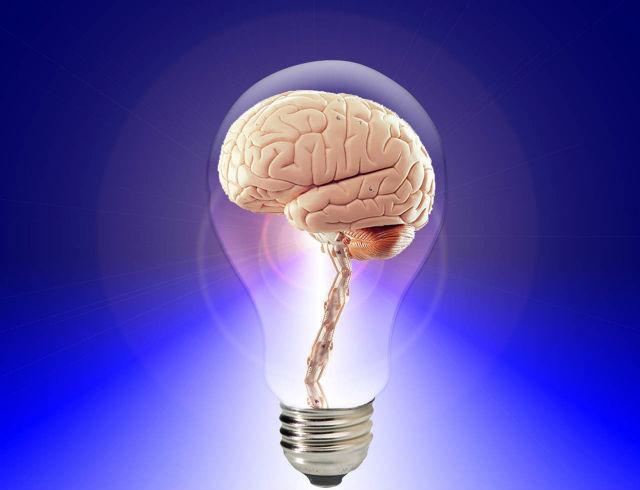 ひらめいた脳の写真