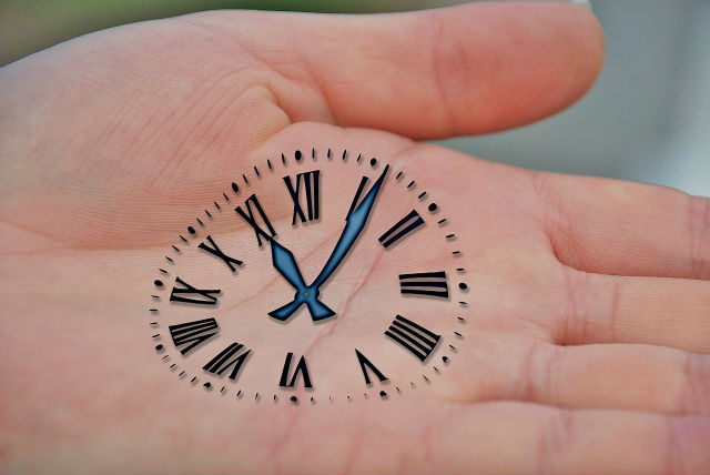 手のひらの時計