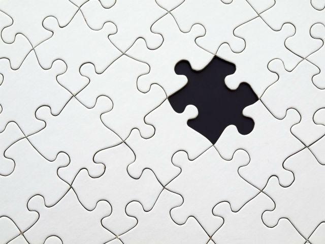 不足したパズルのピース