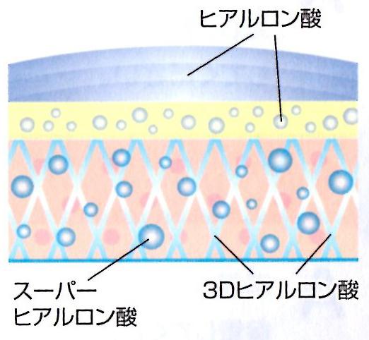 3タイプのヒアルロン酸の画像