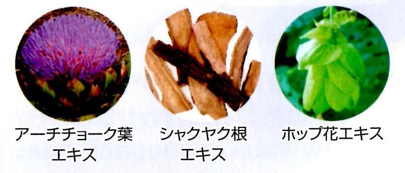 ケアナノパックに含まれる3つの引き締め成分の画像
