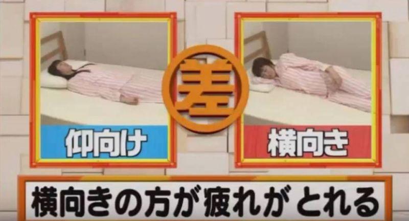 横向き寝の方が疲れが取れる