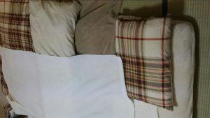 ニトリの寝具(布団)セットの使い方を説明した画像