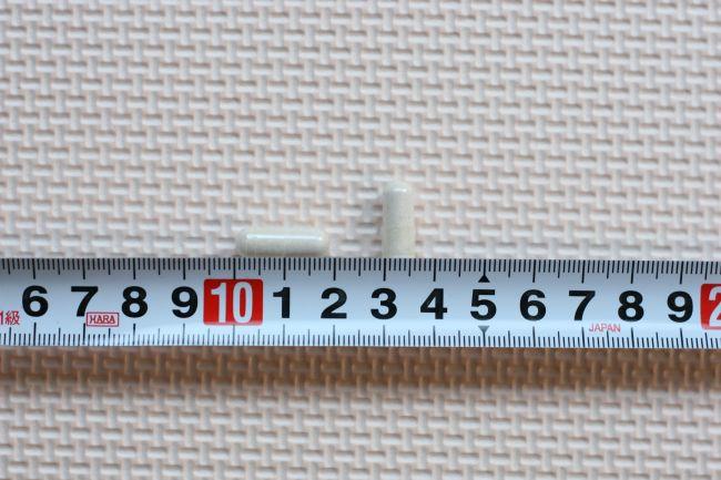 グッドナイト27000のカプセルの大きさを計測した画像
