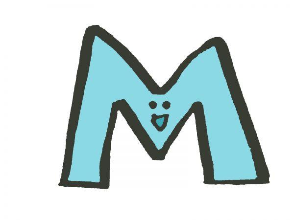 Mサイズを示すイラスト