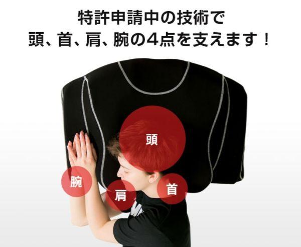 YOKONE3が体の4点をサポートしている画像